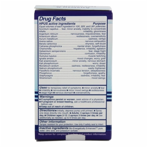 King Bio Homeopathic Natural Medicine Anxiety & Nervousness, 2 Ounces Perspective: back