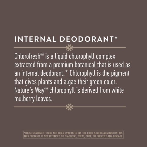 Nature's Way Chlorofresh Chlorophyll Concentrate Caplets 100mg Perspective: back