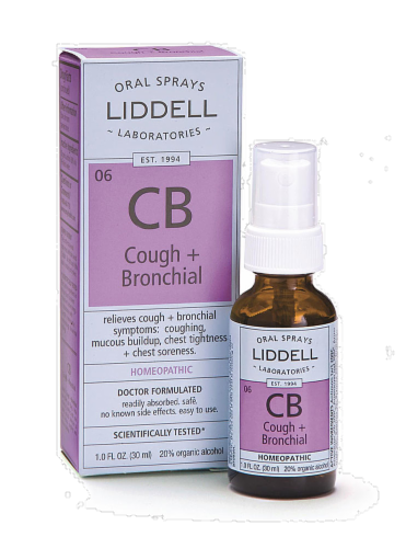 Liddell Laboratories Cough & Bronchial Spray Perspective: back