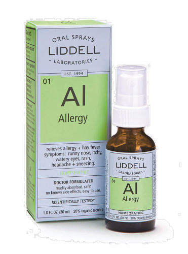 Liddell Laboratories Allergy Oral Spray Perspective: back