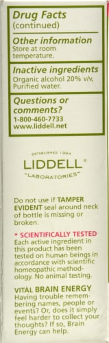Liddell Laboratories Vital Brain Energy Spray Perspective: back
