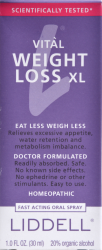 Liddell Laboratories Weight Loss XL Perspective: back