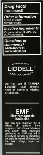 Liddell Laboratories Electromagnetic Radiation Detox Oral Spray Perspective: back