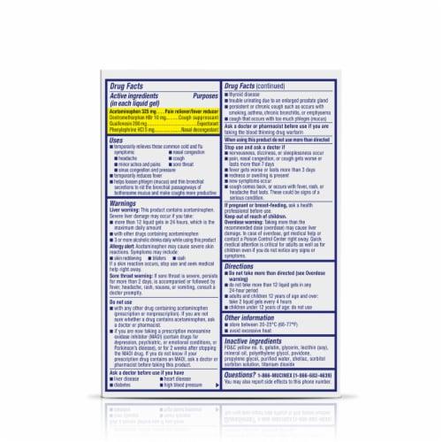 Maximum Strength Mucinex Fast-Max Cold & Flu All-In-One Multi-Symptom Relief Liquid Gels Perspective: back