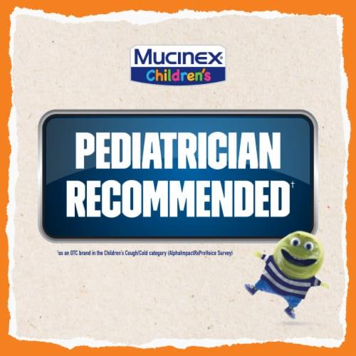 Mucinex Children's Freefrom Multi-Symptom Elderberry & Cherry Flavor Cold Flu & Sore Throat Liquid Perspective: back