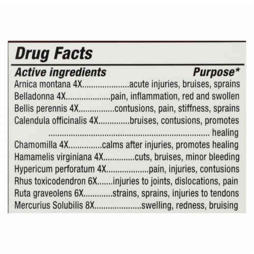 Natrabio Arnica Relief Natural Homeopathic Medicine  - 1 Each - 60 TAB Perspective: back