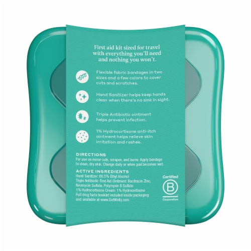 Welly™ Human Repair First Aid Travel Kit Perspective: back