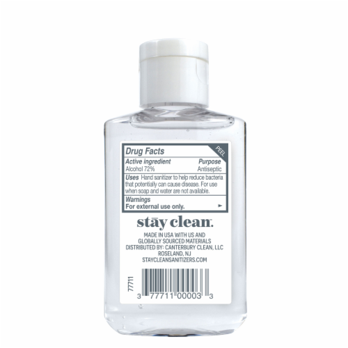 stay clean. Moisturizing Hand Gel Sanitizer Perspective: back