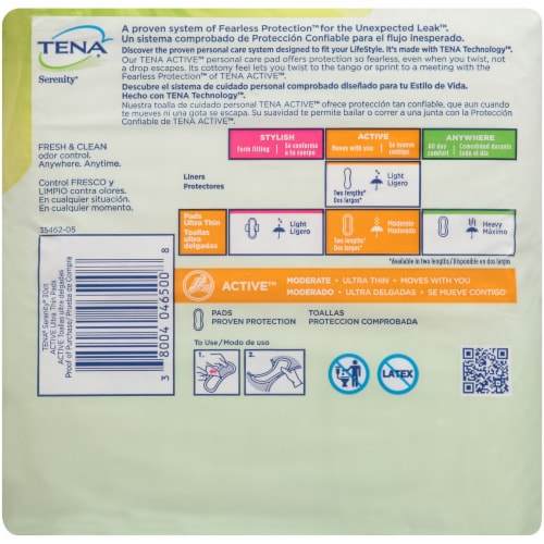 TENA Serenity Active Ultra Thin Pads Perspective: back