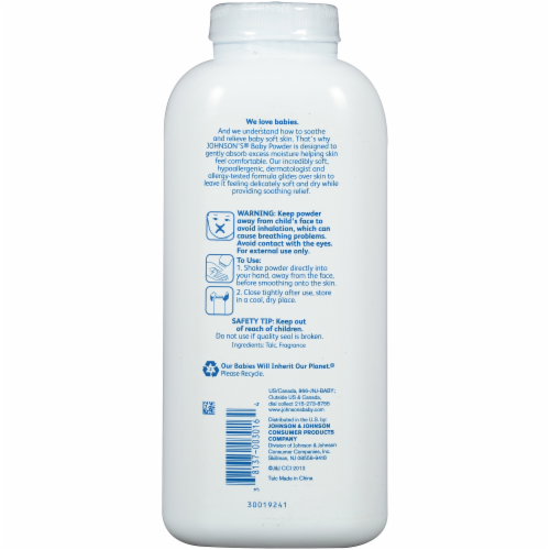 Johnson's Silky Soft Skin Baby Powder Perspective: back