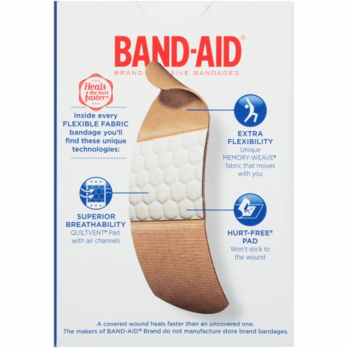Band-Aid Flexible Fabric Bandages Perspective: back