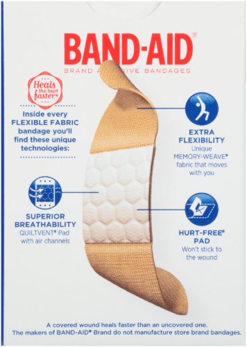 Band-Aid Flexible Fabric Strips Perspective: back