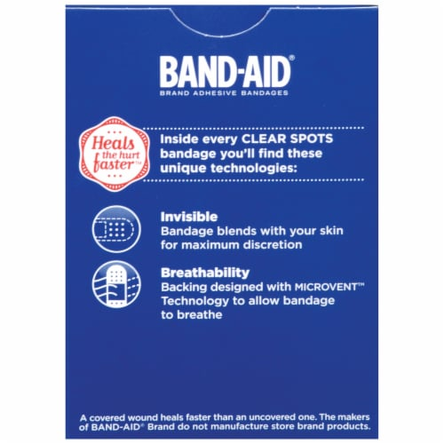 Band-Aid Clear Spots Bandages Perspective: back