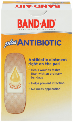 Band-Aid Plus Antibiotic Assorted Bandages Perspective: back