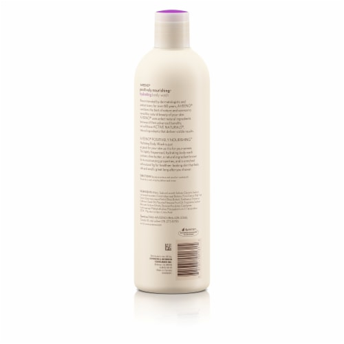 Aveeno Positively Nourishing Fig + Shea Butter Hydrating Body Wash Perspective: back