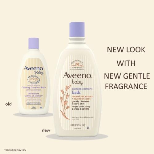 Aveeno Baby Calming Lavender & Vanilla Comfort Baby Body Wash Perspective: back