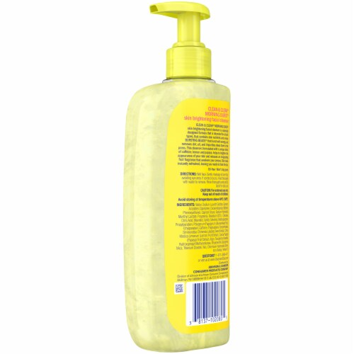 Clean & Clear® Morning Burst® Skin Brightening Facial Cleanser Perspective: back
