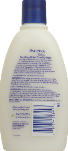 Aveeno Baby Soothing Relief Creamy Wash Perspective: back