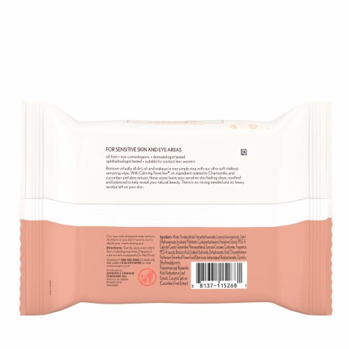 Aveeno Ultra Calming Makeup Removing Wipes Perspective: back