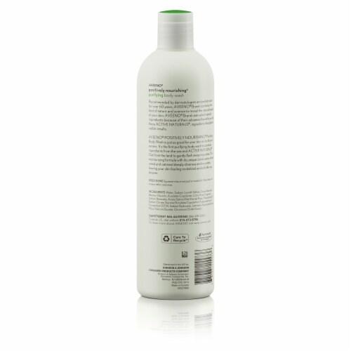 Aveeno Positively Nourishing Seaweed + Oatmeal Body Wash Perspective: back