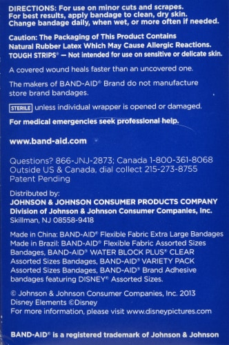 Band-aid Assorted Bandages Value Pack Perspective: back