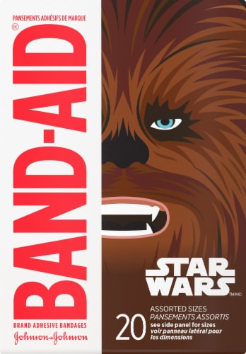 Band-Aid Star Wars Assorted Bandages Perspective: back