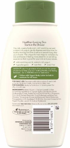 Aveeno Daily Moisturizing Vanilla And Oat Yogurt Body Wash Perspective: back