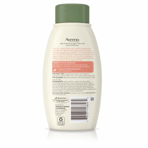 Aveeno Daily Moisturizing  Apricot And Honey Yogurt Body Wash Perspective: back