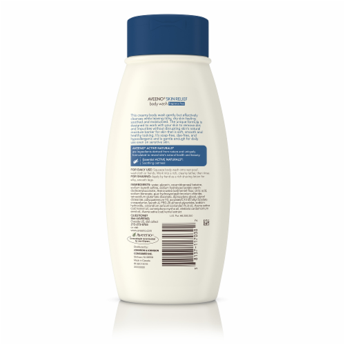 Aveeno Fragrance Free Skin Relief Body Wash Perspective: back