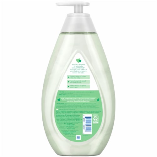 Johnson's Baby Soothing Vapor Bath Body Wash Perspective: back