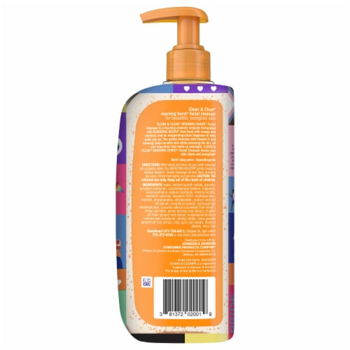 Clean & Clear Morning Burst Facial Cleanser Perspective: back