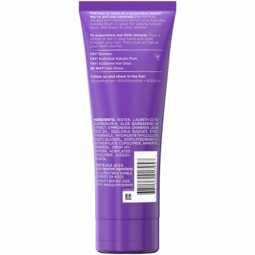 Aussie Headstrong Volume Maximum Hold Hair Gel Perspective: back