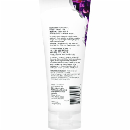 Herbal Essences Totally Twisted Curl Scrunching Gel Perspective: back