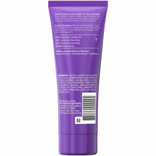 Aussie Instant Freeze Hair with Jojoba Oil & Sea Kelp Gel Perspective: back