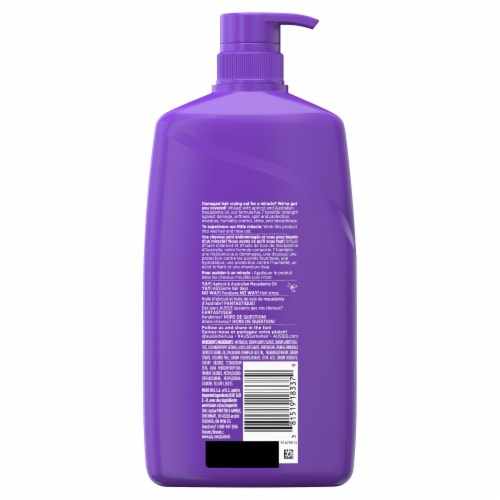 Aussie Total Miracle with Apricot & Macadamia Oil Paraben Free Shampoo Perspective: back