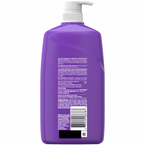 Aussie Miracle Moist with Avocado & Jojoba Oil Paraben Free Conditioner Perspective: back