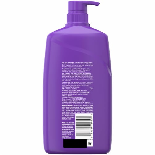 Aussie Miracle Volume with Plum & Bamboo Paraben Free Shampoo Perspective: back