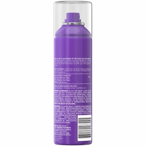 Aussie Instant Freeze with Jojoba Oil & Sea Kelp Hairspray Perspective: back