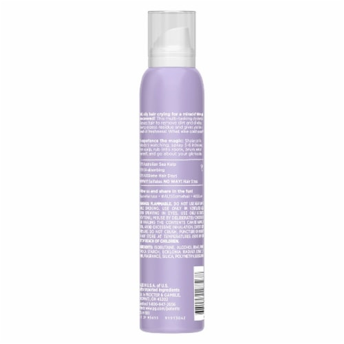 Aussie Bounce Back Sulfate-Free Dry Shampoo with Sea Kelp Perspective: back
