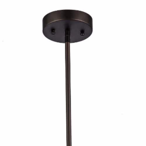 IRONCLAD Industrial-style 1 Light Rubbed Bronze Ceiling Mini Pendant 7  Shade Perspective: back
