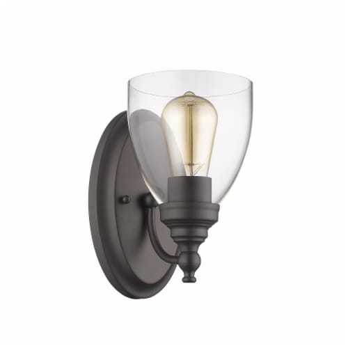 CHLOE Lighting ELISSA Transitional 1 Light Rubbed Bronze Indoor Wall Sconce 6  Wide Perspective: back