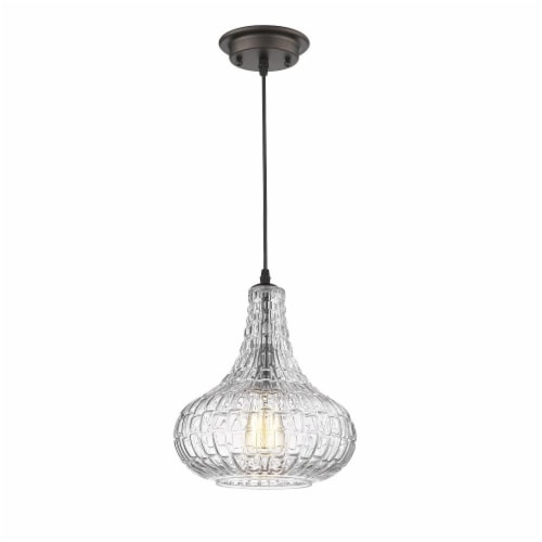 CHLOE Lighting ARIA Transitional 1 Light Rubbed Bronze Ceiling Mini Pendant 10  Wide Perspective: back