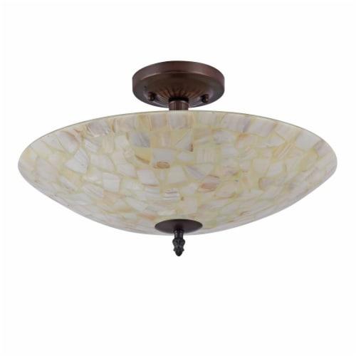CHLOE Lighting SALLY Mosaic 2 Light Semi-flush Ceiling Fixture 16  Shade Perspective: back