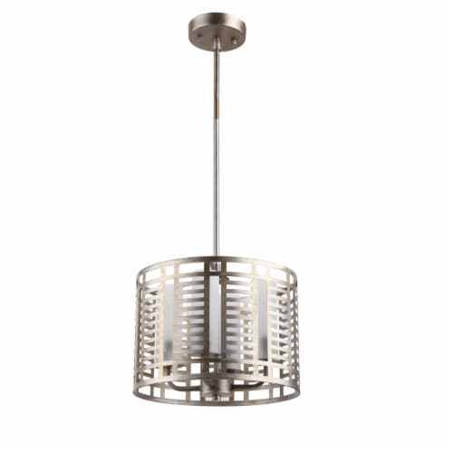 Lighting AVERY Industrial 4 Lights Antique Silver Ceiling Pendant 12  Wide Perspective: back