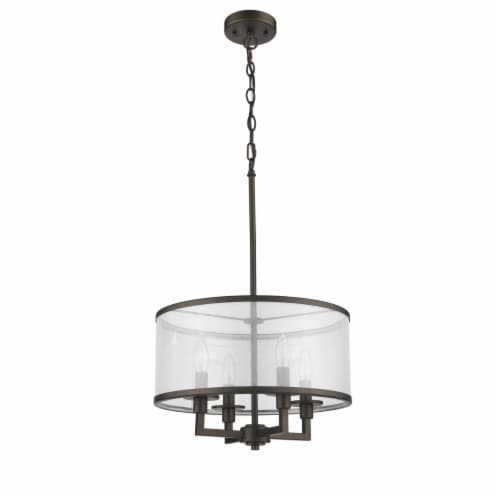 Lighting VALENTINA Transitional 4 Light  Rubbed Bronze Ceiling Pendant 16  Wide Perspective: back