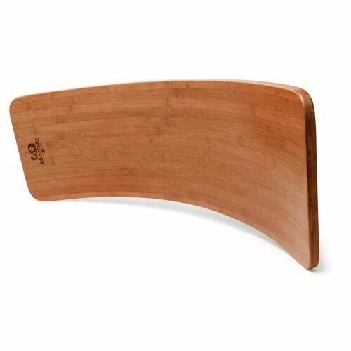 Kinderfeets Original Kinderboard Versatile Waldorf Wood Balance Board, Bamboo Perspective: back