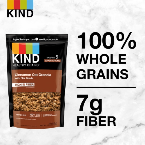 KIND Healthy Grains Cinnamon Oat Clusters with Flax Seed Perspective: back