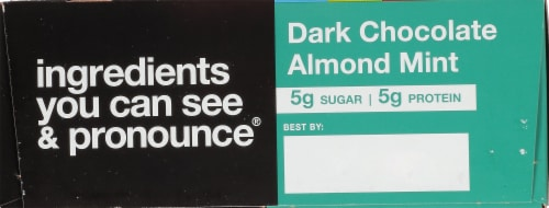KIND Dark Chocolate Almond Mint Bars Perspective: back