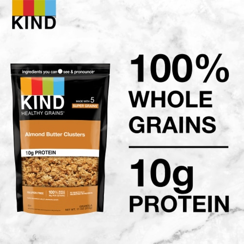KIND Healthy Grains® Almond Butter Whole Grain Clusters Perspective: back