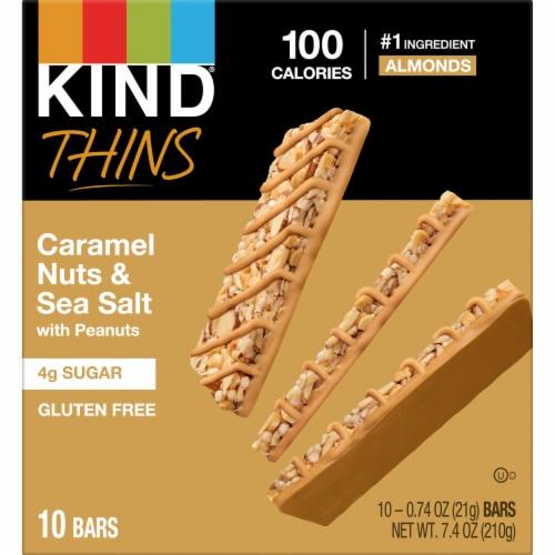 KIND® Thins Caramel Almond & Sea Salt Bars Perspective: back